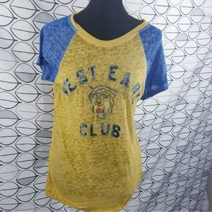 West East Club Tiger Burnout Gold Tee Free People